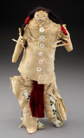 American Indian Art:Beadwork and Quillwork, A Northern Cheyenne Beaded Hide Male Doll...