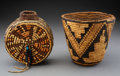 American Indian Art:Baskets, Two Northwest Coast Imbricated Basketry Items... (Total: 2 )