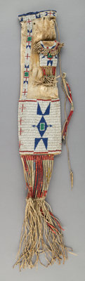 A Sioux Beaded Hide Tobacco Bag