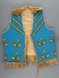 American Indian Art:Beadwork and Quillwork, A Blackfoot Beaded Hide Vest...