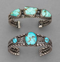 American Indian Art:Jewelry and Silverwork, Two Navajo Bracelets ... (Total: 2 )