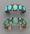 American Indian Art:Jewelry and Silverwork, Two Navajo Bracelets... (Total: 2 )