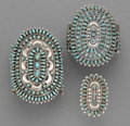 American Indian Art:Jewelry and Silverwork, Three Navajo Jewelry Items... (Total: 3 )
