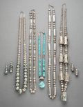American Indian Art:Jewelry and Silverwork, Seven Southwest Jewelry Items... (Total: 7 )