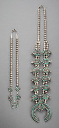 American Indian Art:Jewelry and Silverwork, Two Zuni Necklaces... (Total: 2 )