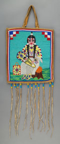 American Indian Art:Beadwork and Quillwork, A Plateau Beaded Hide Flat Bag... (Total: 0 )
