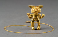 A Diquis Miniature Gold Figure
