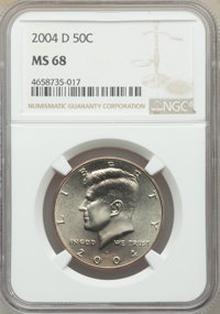 2004-D 50C MS68 NGC. NGC Census: (13/0). PCGS Population: (27/0)