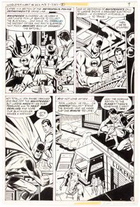 George Tuska and Vince Colletta World's Finest #252 Story Page 8 Superman and Batman Original Art (DC, 1978)