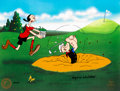"Animation Art:Limited Edition Cel, Popeye and Olive Oyl ""A Day at the Links"" Signed Limited Edition Cel, 184/200 (Fleischer/King Features Syndicate, 1998). ..."