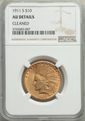 Indian Eagles, 1911-S $10 -- Cleaned -- NGC Details. AU. NGC Census: (22/368). PCGS Population: (28/380). CDN: $985.75.Whsle. Bid for prob...
