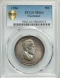1936 50C Cincinnati MS64 PCGS. PCGS Population: (680/709). NGC Census: (432/343). CDN: $300 Whsle. Bid for problem-free...