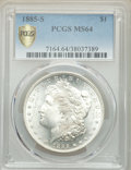 Morgan Dollars: , 1885-S $1 MS64 PCGS. PCGS Population: (2706/711). NGC Census: (1403/255). CDN: $525 Whsle. Bid for problem-free NGC/PCGS MS...