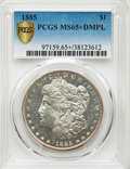 1885 $1 MS65+ Deep Mirror Prooflike PCGS. PCGS Population: (349/103 and 23/10+). NGC Census: (195/58 and 0/2+). CDN: $95...