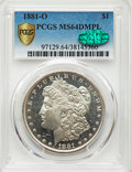 1881-O $1 MS64 Deep Mirror Prooflike PCGS. CAC. PCGS Population: (370/20 and 61/1+). NGC Census: (123/5 and 3/0+). CDN:...
