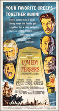 "Movie Posters:Horror, The Comedy of Terrors (American International, 1964). Fine+ on Linen. Three Sheet (41.25"" X 78.5""). Reynold Brown Artwork. H..."