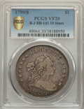 Early Dollars, 1799/8 $1 15 Stars Reverse, B-3, BB-141, R.3, VF20 PCGS....