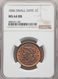 1846 1C Small Date, N-18, R.1, MS64 Red and Brown NGC....(PCGS# 403905)