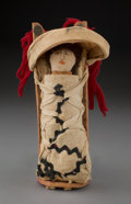 American Indian Art:Beadwork and Quillwork, An Apache Model Cradleboard with Doll...