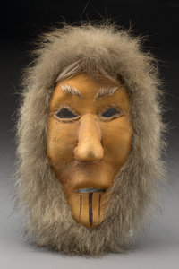 An Eskimo Hide and Fur Mask