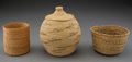 American Indian Art:Baskets, Three Northwest Twined Basketry Items... (Total: 3 )