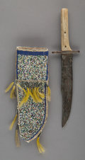 American Indian Art:Beadwork and Quillwork, A Sioux Beaded Hide Knife Sheath... (Total: 2 )