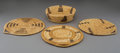 American Indian Art:Baskets, Four Papago Coiled Basketry Items... (Total: 4 )