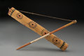 American Indian Art:Wood Sculpture, An Apache Painted Wood Fiddle...