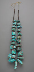 American Indian Art:Jewelry and Silverwork, A Large Southwest-style Turquoise Nugget Necklace...