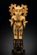 Pre-Columbian:Ceramics, A Superb Diquis Gold Figure...