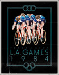 """Movie Posters:Sports, L.A. Games 1984 by Peter J. Heer (1983). Rolled, Fine/Very Fine. Olympics Poster (23"""" X 29"""") Cycling Style. Sports.. ..."""