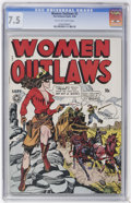 Golden Age (1938-1955):Crime, Women Outlaws #2 (Fox Features Syndicate, 1948) CGC VF- 7.5 Tan to off-white pages....