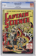 Golden Age (1938-1955):Science Fiction, Captain Science #5 (Youthful Magazines, 1951) CGC FN/VF 7.0 Tan tooff-white pages....