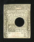 Colonial Notes:Connecticut, Connecticut July 1, 1780 20s About New. A lightly circulatedexample with solid paper quality and the typical hole cancellat...