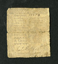 Colonial Notes:Pennsylvania, Pennsylvania April 3, 1772 4d Very Good. A heavily circulatedexample of this small change note that is well signed and numb...