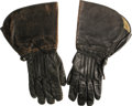 Movie/TV Memorabilia:Costumes, James Dean's Motorcycle Gloves. A nice pair of horse-hidemotorcycle gloves with flared forearm covers, owned and used byDe...