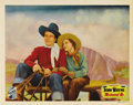 "Movie Posters:Western, Westward Ho (Republic, 1935). Lobby Card (11"" X 14""). Early John Wayne ""B"" Western with the Duke as one of the Singing Rider..."