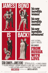 "From Russia with Love (United Artists, 1964). One Sheet (27"" X 41"") Style B. After the incredible success of &..."