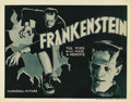 "Movie Posters:Horror, Frankenstein (Universal, R-1938). Title Lobby Card (11"" X 14""). This Universal horror classic from director James Whale scar..."