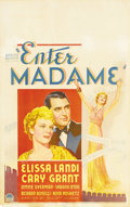 "Movie Posters:Romance, Enter Madame (Paramount, 1935). Window Card (14"" X 22""). Cary Grant plays a millionaire who falls under the spell of opera s..."