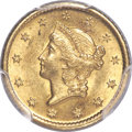 Gold Dollars, 1849-O G$1 Open Wreath MS63 PCGS. Variety 1....