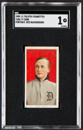 Baseball Cards:Singles (Pre-1930), 1909-11 T206 Tolstoi Ty Cobb (Portrait, Red Background) SGC Poor 1....