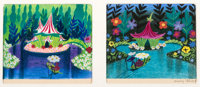 Mary Blair - Fiesta of the Flowers Concept/Color Key Paintings Group of 2 (Walt Disney, 1943/45)