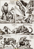 Original Comic Art:Panel Pages, John Buscema and Ernie Chan Savage Sword of Conan #78 Pages 26 and 27 and Preliminary Original Art (Marvel, 1982).... (Total: 3 Original Art)