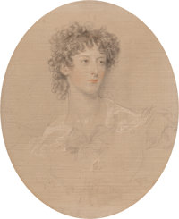 Sir Thomas Lawrence (British, 1769-1830) Portrait of Isabella Mary Fairlie (née Elderton), bust length, looking h...