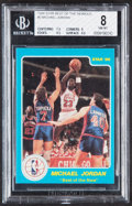 Basketball Cards:Singles (1980-Now), 1986 Star Company Best of the New/Old Michael Jordan #2 BGS NM-MT 8....