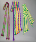 American Indian Art:Beadwork and Quillwork, Three Osage Hand-woven Sashes... (Total: 3 )