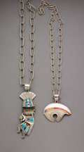 American Indian Art:Jewelry and Silverwork, Two Navajo Pendants... (Total: 2 )