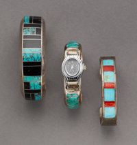 Three Southwest Cuff Bracelets... (Total: 3 )