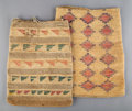 American Indian Art:Pipes, Tools, and Weapons, Two Plateau Twined Cornhusk Bags... (Total: 2 )